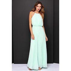 Γυναικεία+Φόρεμα+Μακρύ+Αμάνικο+Σιφόν+–+USD+$+37.99
