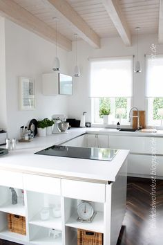 kitchen for a small space - white and bright