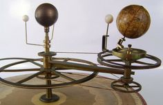 Orrery by Newton and Son - English, mid 19th Century, pull and cord tellurian.