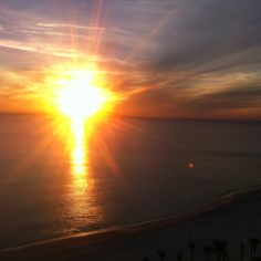 On this day Sunset View from Condo  Chris Long Photo  January 29 2012 Panama City, Beach FLA