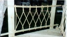 Railing for the tree house.  http://www.matadorcoupe.com/seebee65/treehouse_railing3.jpg