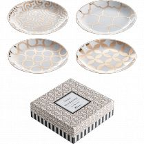 Luxe Moderne Appetizer Plates, Set of 4