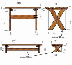 Bbq Table, Wood Table, Outside Furniture, Pallet Furniture, Vertical Garden Design, Side Tables Bedroom, Diy Farmhouse Table, Cute Home Decor, Colorful Furniture