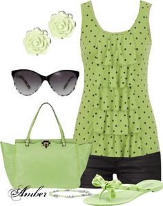 """Polka Dot Ruffle Tank"" by stay-at-home-mom on Polyvore"