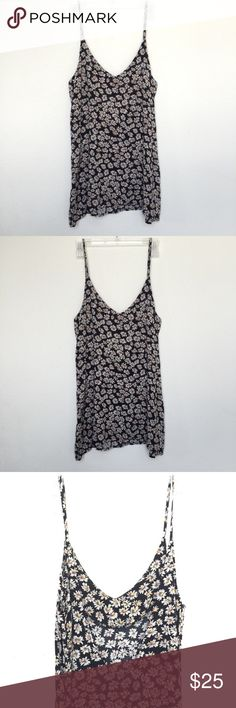 Brandy Melville Daisy Dress Super cute with semi low back Worn once but like new  PLEASE DON'T ask me to trade or swap I don't do that!  I ship everyday except Sundays. Brandy Melville Dresses Mini