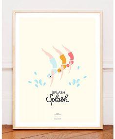 L'affiche Baigneuses Splash Splash - Zina Lahrichi x émoi émoi sur émoi émoi