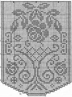 Kira scheme crochet: Tablecloth for dresser