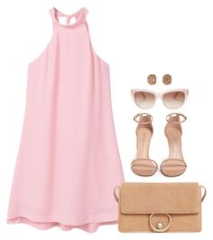 """""""Untitled #6841"""" by lisa-holt ❤ liked on Polyvore featuring MANGO, Stuart Weitzman and Kate Spade"""