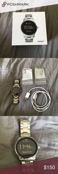 Fossil smart watch Bought about a year ago, but never used it. It's brand new no scratches, cracks, or dents. Great product with great reviews! I️ also have a video of it working if you want to see that. Fossil Accessories Watches