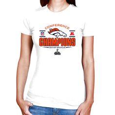 Denver Broncos 2013 AFC Champions Women's Trophy Collection T-Shirt - White - $17.09