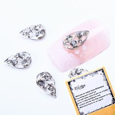 BTArtbox HOT FASHION 10pcs Alloy 3D Cute Mask with Rhinestones Nail Art Tips Slice Decoration * Click on the image for additional details.