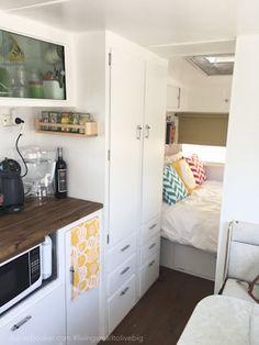 Adriel Booker - Living in a Caravan-Camper - kitchen and master
