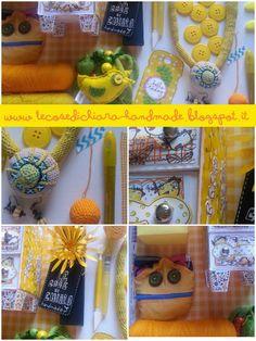LE COSE DI CHIARA                              un colore la mese  Giugno è giallo Tante giallidee  Many jellow crafty ideas  www.lecosedichiara-handmade.blogspot.it