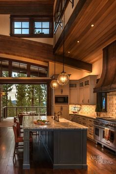Top Kitchen Trends Prediction for 2018 - New Kitchen Concept - kitchen trends trends in the Top kitchen design for remodel kit - Rustic Kitchen Decor, Home Decor Kitchen, Interior Design Kitchen, Rustic Kitchen Lighting, Rustic House Decor, Modern Home Interior, Cabin Interior Design, Kitchen Industrial, Beautiful Houses Interior