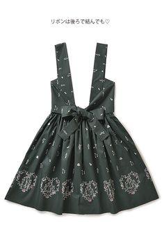 アリス学院制服 大きなリボンの物語柄ジャンパースカート:バラとトランプの庭師 | フェリシモ