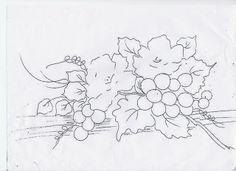 Coisas da Nil - Pintura em tecido: Riscos de flores e frutas.
