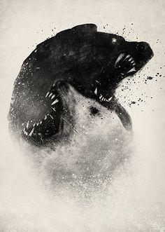 Wolf art scary