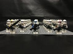 Clone Trooper Army 43 figures + 32 x 32 Baseplate