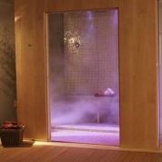 The Monza steam shower unit from Wasauna turns the everyday shower ritual into a luxurious spa experience. A built-in FM radio and seven different chromatherapy lighting schemes. Built-in seats easily accommodate two, while a ceiling rain showerhead, a built-in FM radio and seven different chromatherapy lighting schemes deliver the ultimate spa-like experience. A big-button control panel ensures easy operation. Other features include a ventilation system, two folding seats, a drain with trap…