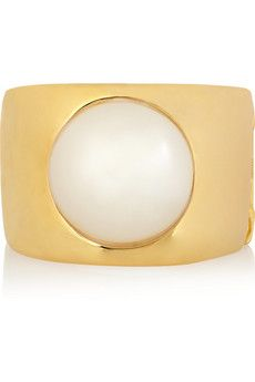 Kenneth Jay Lane Gold-plated faux pearl cuff | NET-A-PORTER