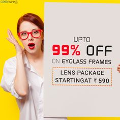 Start Your Monday with the Latest Jaw Dropping Collection of Coolwinks! Shop Now & Get UPTO 99% OFF on Eyeglass Frames. Limited Period Offer. Buy Now.