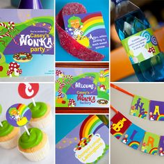 Willy Wonka Theme  Full Printable Collection by SunshineParties, $32.00