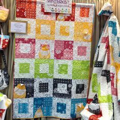 I have lots of block style patterns, I LOVE how they did the colors on this on....Spun Sugar Quilts