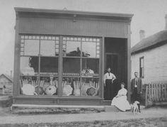Umbrella store, West Leonard - c. 1900