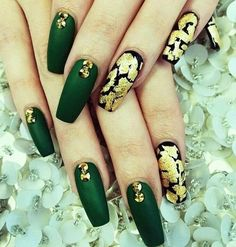 Red Carpet Green Nails