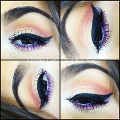 purple and peach