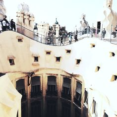 The Gaudi rooftops in barcelona