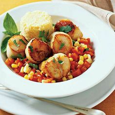 Fast & Fresh fall meals | Quick Scallops with Peppers and Corn | Sunset.com
