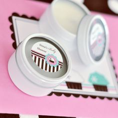Personalized Round Candle Tins - Cupcake Party