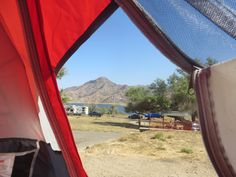 View from the tent, CA