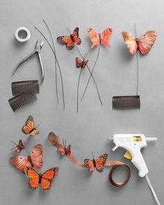 [orginial_title] – Frisuren Art Haarschmuck Diy – can use this hair comb idea but glue bubbles (balloons?) to it instead of b… Haarschmuck Diy – can use this hair comb idea but glue bubbles (balloons? Diy And Crafts, Arts And Crafts, Paper Crafts, Costume Papillon, Monarch Butterfly Costume, Butterfly Halloween Costume, Diy Papillon, Borboleta Diy, Madame Butterfly