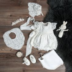 Let them be little with this adorable lace bubble romper that dresses her up while still letting her be your sweet little baby girl. Christening Outfit Women, Christening Shoes, Baby Baptism, Baptism Dress, Girl Christening Decorations, Little Baby Girl, Baby Girl Romper, Baby & Toddler Clothing, Kids Fashion