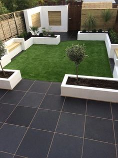 Contemporary garden idea