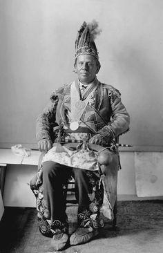 American Indians : Kah Ke Wa Quo Na (The Waving Plume) - Ojibwe 1898.