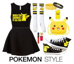 """""""Pokemon Style: Pikachu Girl"""" by zoe-keredy ❤ liked on Polyvore featuring CellPowerCases, Neil Barrett, Yves Saint Laurent and NARS Cosmetics"""