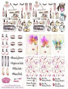 FREE Makeup and Beauty Planner Stickers