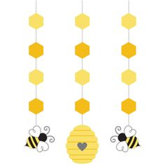 Bee Party Decorations - What Will it Bee Gender Reveal, Honey Bee Baby Shower, Shower Decorations, Reveal Decorations, Party Decorations Decoration Creche, Party Decoration, Baby Shower Decorations, Hanging Decorations, Bumble Bee Decorations, Mommy To Bee, Hummel Baby, Bumble Bee Birthday, Bee Gender Reveal