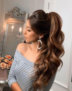 Ojoaquim on Instagra Bun Hairstyles For Long Hair, Bride Hairstyles, Pretty Hairstyles, Bridal Hair Buns, Short Hair Styles Easy, Wedding Hair Inspiration, Hair Styler, Beautiful Long Hair, Wedding Hair And Makeup