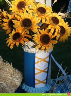 Oktoberfest Centerpiece Vase