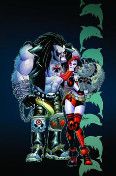 Harley Quinn and Lobo by Amanda Conner, colours by Paul Mounts *