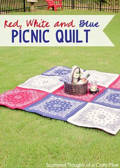 How to Make a Bandana Quilt in just a few hours. (No binding method.)