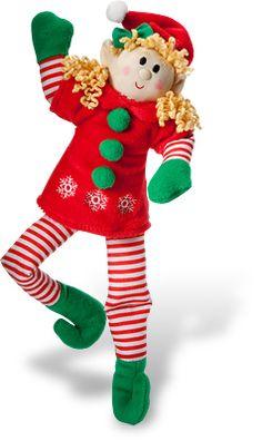 Elf Magic 36-Inch Giant Boy Elf with Blonde Hair Plush Toy