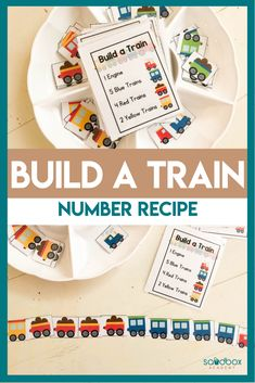 Build A Train Counting Activity Number Recipes  Practice numbers and values with an engaging activity that train lovers will enjoy. Number recipes are a fun way to work on numbers and early literacy.