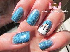 Cosmetic Cupcake: Ozotic Snowman manicure