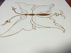 Kelebek altın boyama