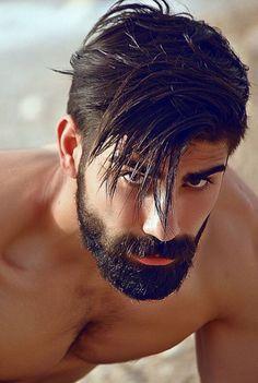 Dark beard.